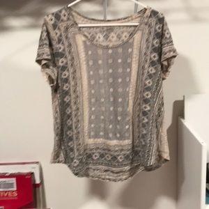 Lucky Brand short sleeve top sz xl